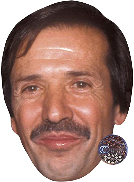 Sonny Bono Young Card Face and Fancy Dress Mask Celebrity Mask