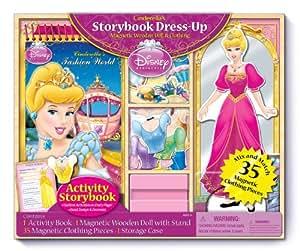 Bendon Cinderella's Storybook Dress-Up Wooden Magnetic Playset, 35-Piece