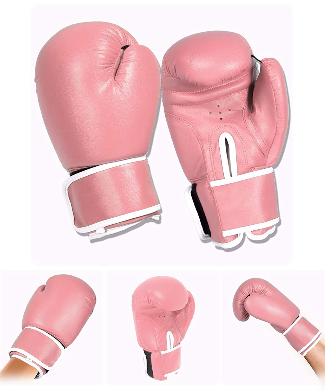 Womens Mma Sparring Martial Arts Punch Bag Training Fight Mitts 10oz 12oz 14oz 16oz FAIRWAYUK Adult Pink Boxing Gloves