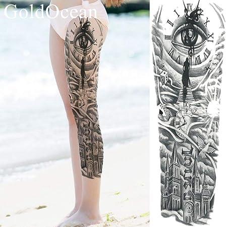 tzxdbh 5Pcs-Iglesia Negra Etiqueta Engomada del Tatuaje A Prueba ...