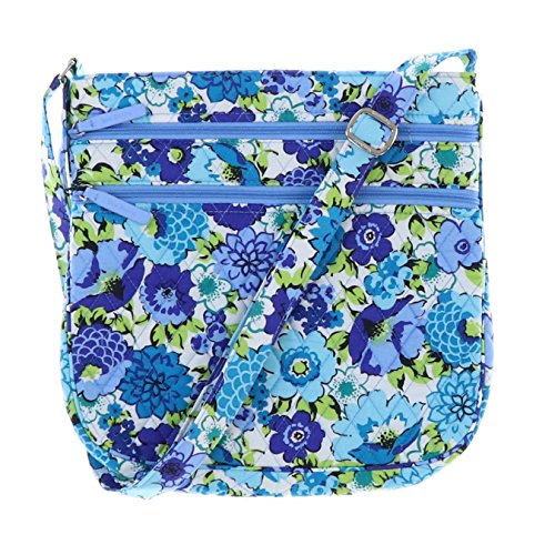 Bag Blueberry Bradley Solid body Triple Hipster Blooms Updated Cross Interiors Vera with Zip WR4SCp4nq