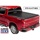 """Gator ETX Soft Roll Up Truck Bed Tonneau Cover   137245   Fits 2019 - 2020 New Body Style GMC Sierra 1500 & Chevrolet Silverado 1500 5'8"""" Bed (Will Not Fit Carbon Pro Bed) Bed   Made in the USA"""