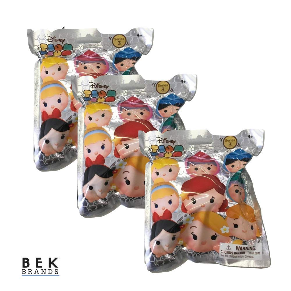 Bek Brands 3 pk Tsum Tsum Series 3 Keyring Pack   Tsum Tsum Mystery Keyring