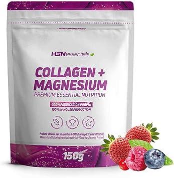 Colágeno Hidrolizado con Magnesio de HSN | Origen Bovino | Con Vitamina C | Belleza Natural de Piel, Cabello y Uñas | Sin Lactosa, Sabor Frutos Rojos, En Polvo, 150 gr: Amazon.es: