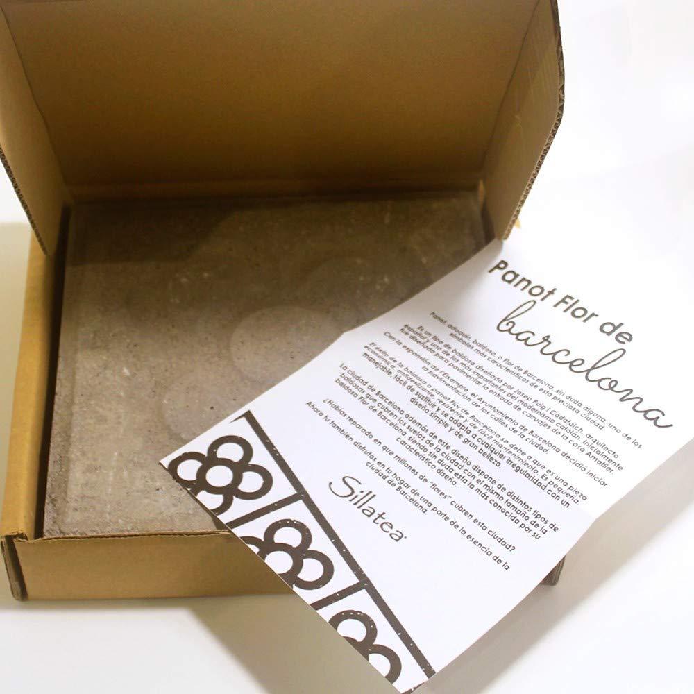 Sillatea Baldosa panot Flor DE Barcelona 20x20 - Cemento: Amazon.es: Hogar