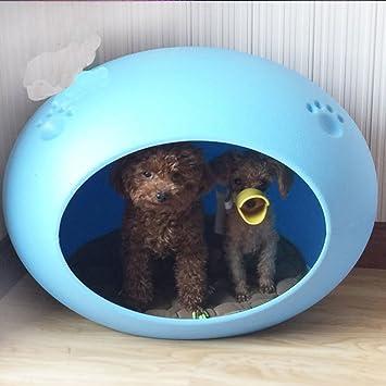 SL&ZX Gato plástico Kennel,Cachorros de Gatito Gato casa casa Cama del Perro caseta plástico