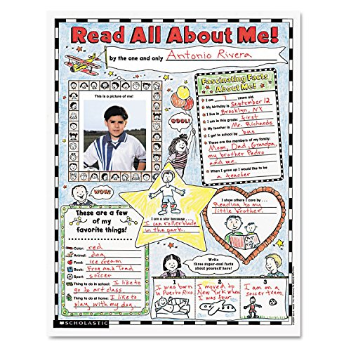Scholastic 0439152852 Instant Personal Poster Sets Read All About Me 17
