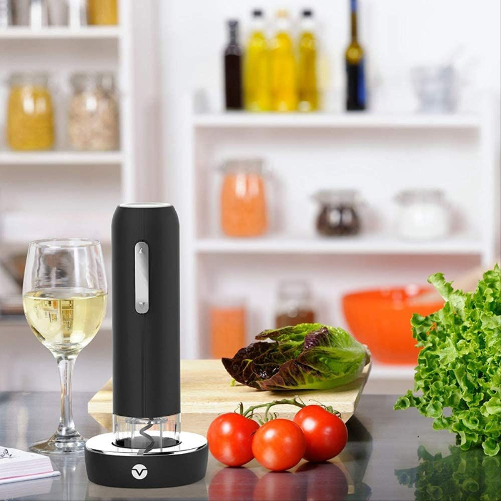 Automatic Wine Bottle Opener E Electric Corkscrew Auto Wine Opener with Electronic Chargeable Base Wine Opener Corkscrew Electric Electric Wine Opener Set