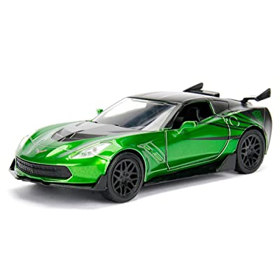 Jada 1:32 Metals Transformers 5 - Crosshairs 2016 Chevrolet Corvette Stingray Diecast Model Car: Toys & Games