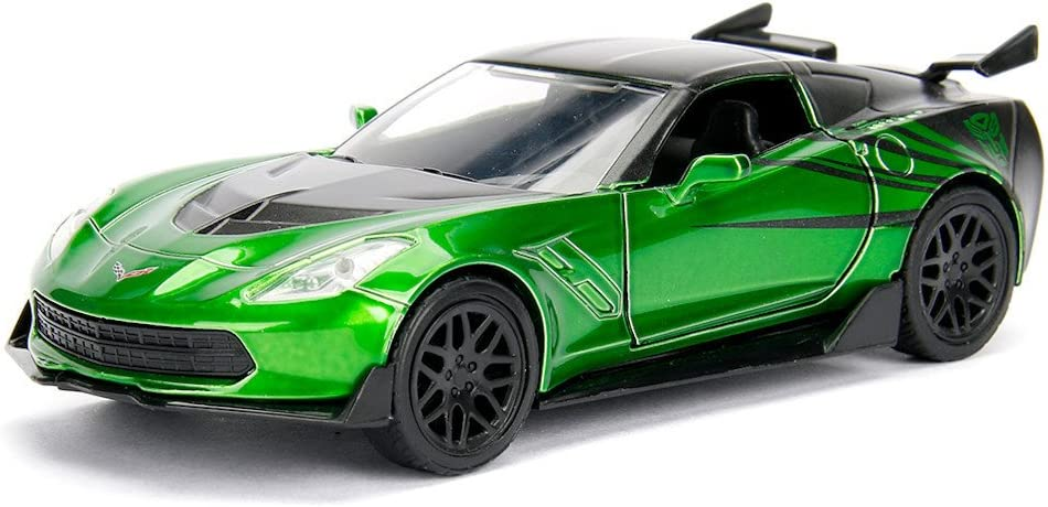 Toy New 1:32 Transformers Chevy Corvette Crosshairs