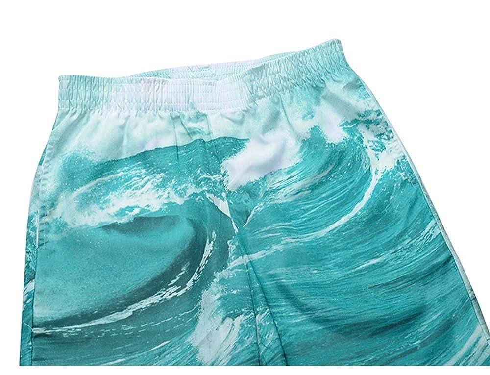 Hellomiko Mens Board Shorts Brand Summer Clothing Octopus Pattern Swimwear Beach Shorts Mens Surf Shorts Quick Dry Swimming Shorts