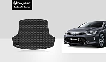Heavy Duty - 2018 Front Row + 2nd Row 2020 All Weather 2019 - Black Rubber TOUGHPRO Floor Mat Accessories Set Made in USA Compatible with Toyota Camry