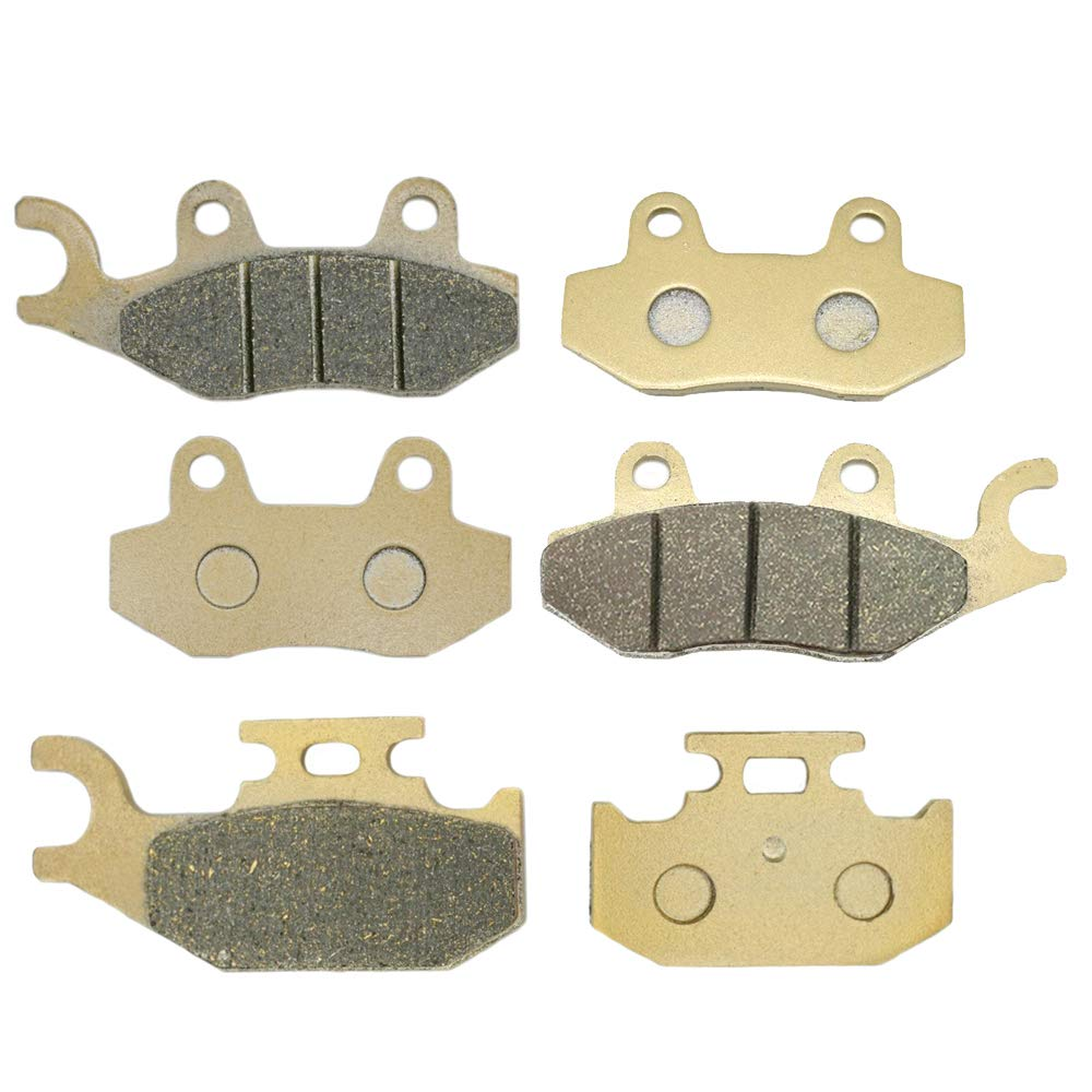 Lefossi Motorcycle Replacement Front and Rear Brake Pads Brakes for ATV Yamaha Raptor YFM 700 R 2006 2007 2008 2009 2010 YXR 450 Rhino 450 YXR450 660 2004 2005 2006 2007 2008 2009 FA165F FA135F FA428R