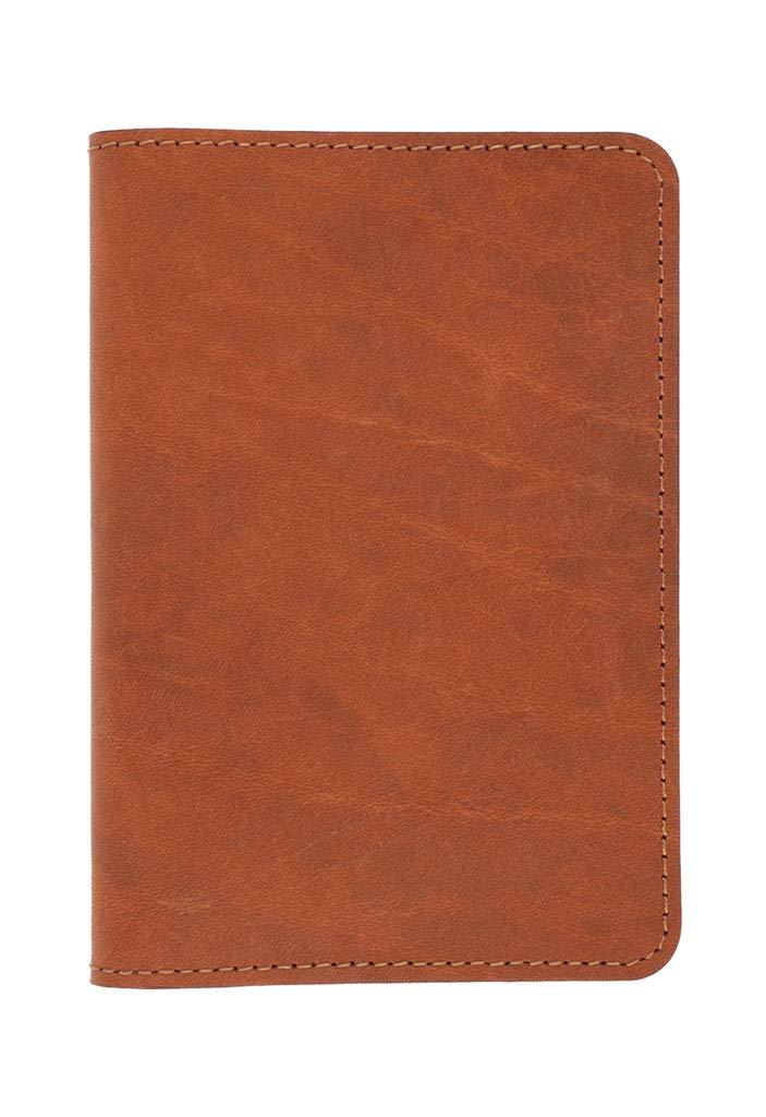 SLATE COLLECTION Sand Point Passport Holder, Full-grain Leather (Cognac)