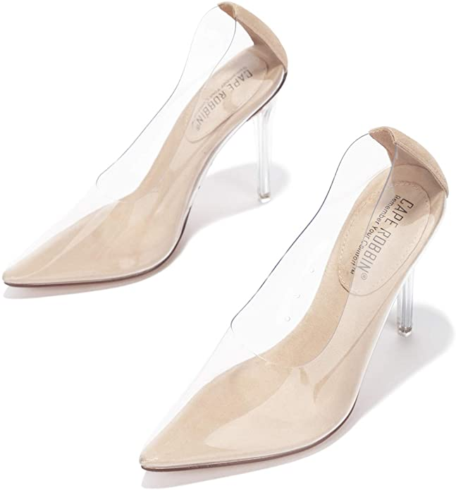 Cape Robbin Glass Doll Shoes with Pointed Toe