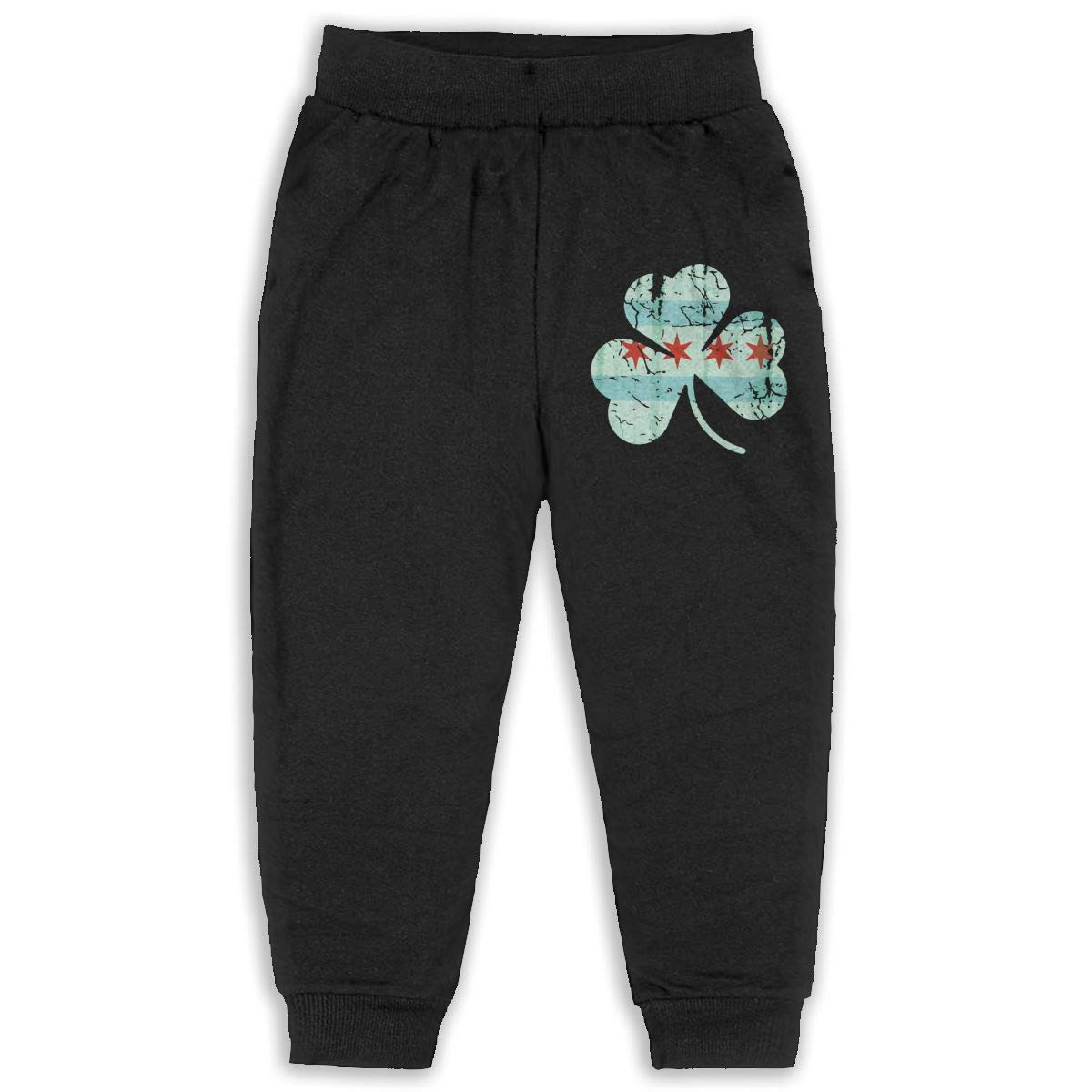 ELCW37K Kids /& Toddler Pants Soft Cozy Baby Sweatpants Irish Chicago Flag Shamrock Fleece Pants Athletic Pants