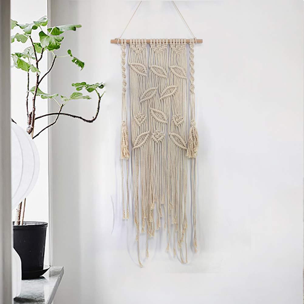 Amazon com lerfey boho macrame hanging wall decor decorative wall