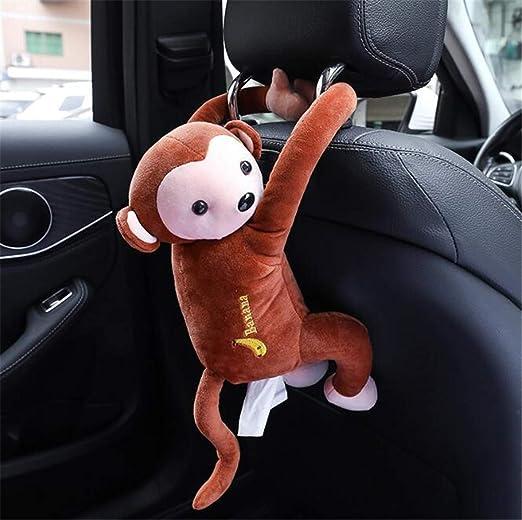 1x Wooden Animal Monkey Tissue Box Paper Holder Dispenser Organizer For Home Car