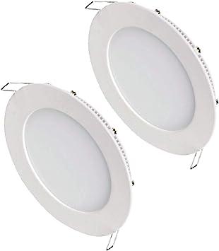 PACK 2 Led downlight empotrable 18w 1350lm 6000k Marco aluminio blanco Alta calidad: Amazon.es: Bricolaje y herramientas