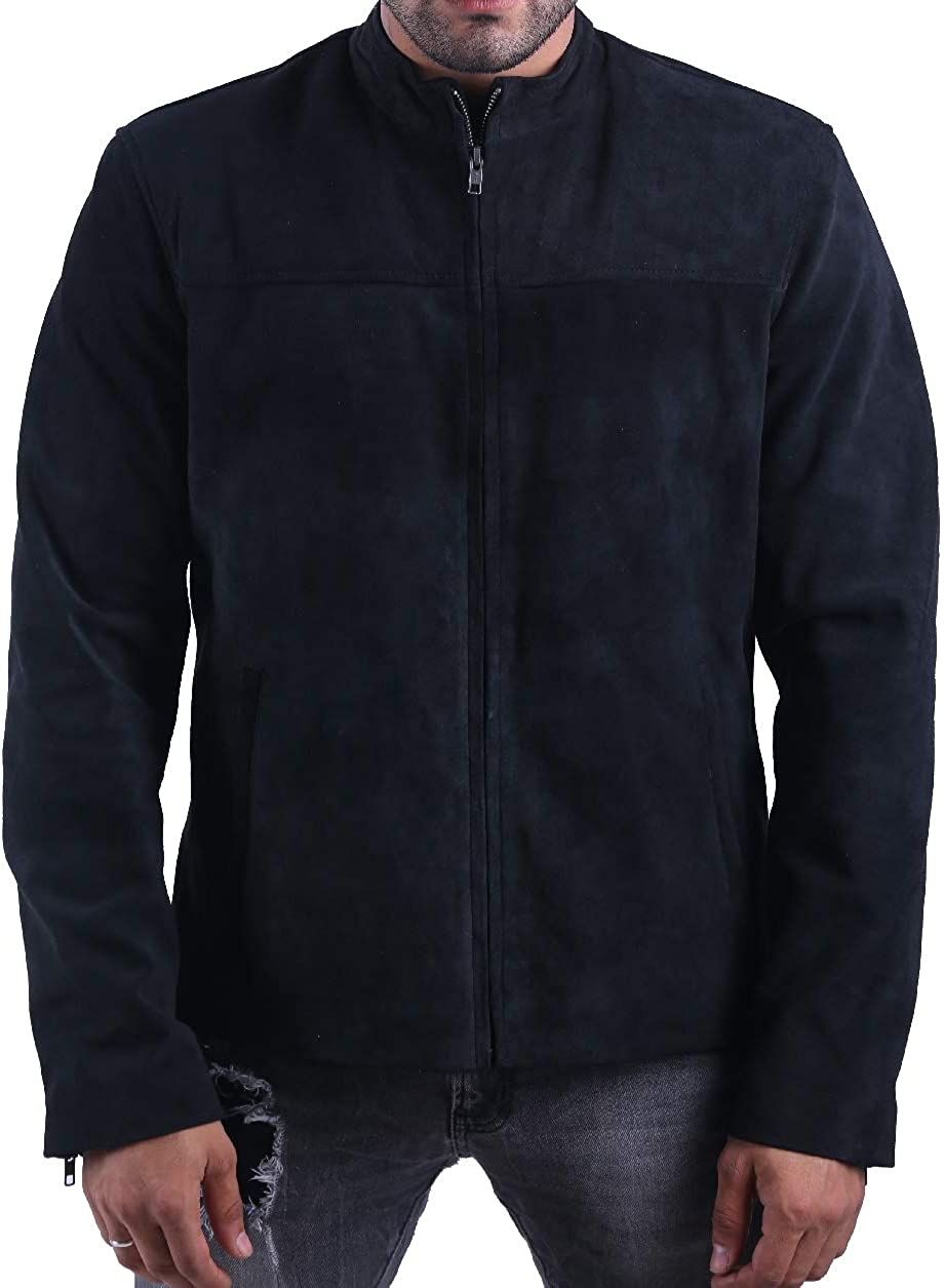 Mission Impossible 6 Movie MI6 Tom Cruise Ethan Hunt Real Suede Lamb Leather Jacket
