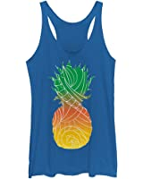 Lost Gods Tribal Pineapple Womens Graphic Racerback Tank