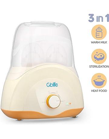 Calienta Biberones Multifuncional Calentador de Alimentos Esterilizador Biberón para Bebé Niños Diseño de Botellas Dobles Termostato