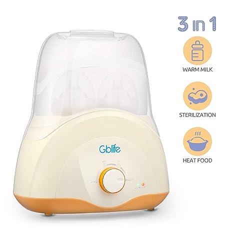 Calienta Biberones Multifuncional Calentador de Alimentos Esterilizador Biberón para Bebé Niños Diseño de Botellas Dobles Termostato Inteligente ...