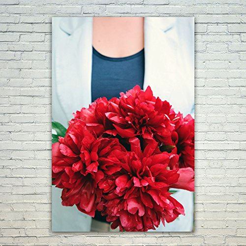 Westlake - Poster Print Wall - Flower Flowering - Modern Picture Photography Home Decor Office Birthday Gift - Unframed - 12x18in (od9 0be) (Peony Style Bride Dress)
