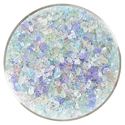 Perfect Pastels Designer Fusible Glass Coarse Frit Mix - New Larger 8oz Size - 90COE - Made from Bullseye Glass by New Hampshire Craftworks