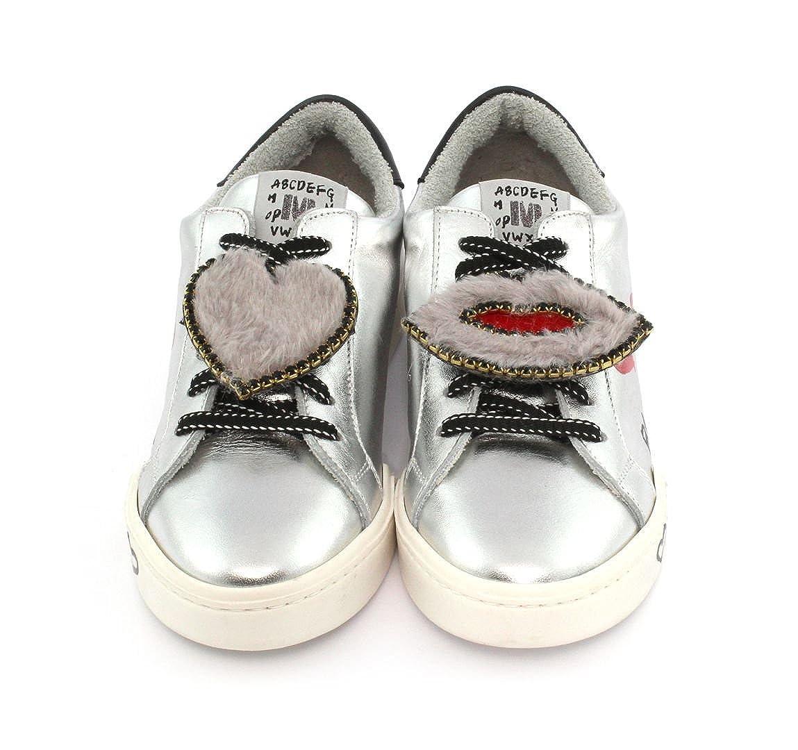 Sneaker MELINE D14 Velam Argento Bocca Cuore Grigio 37 EU
