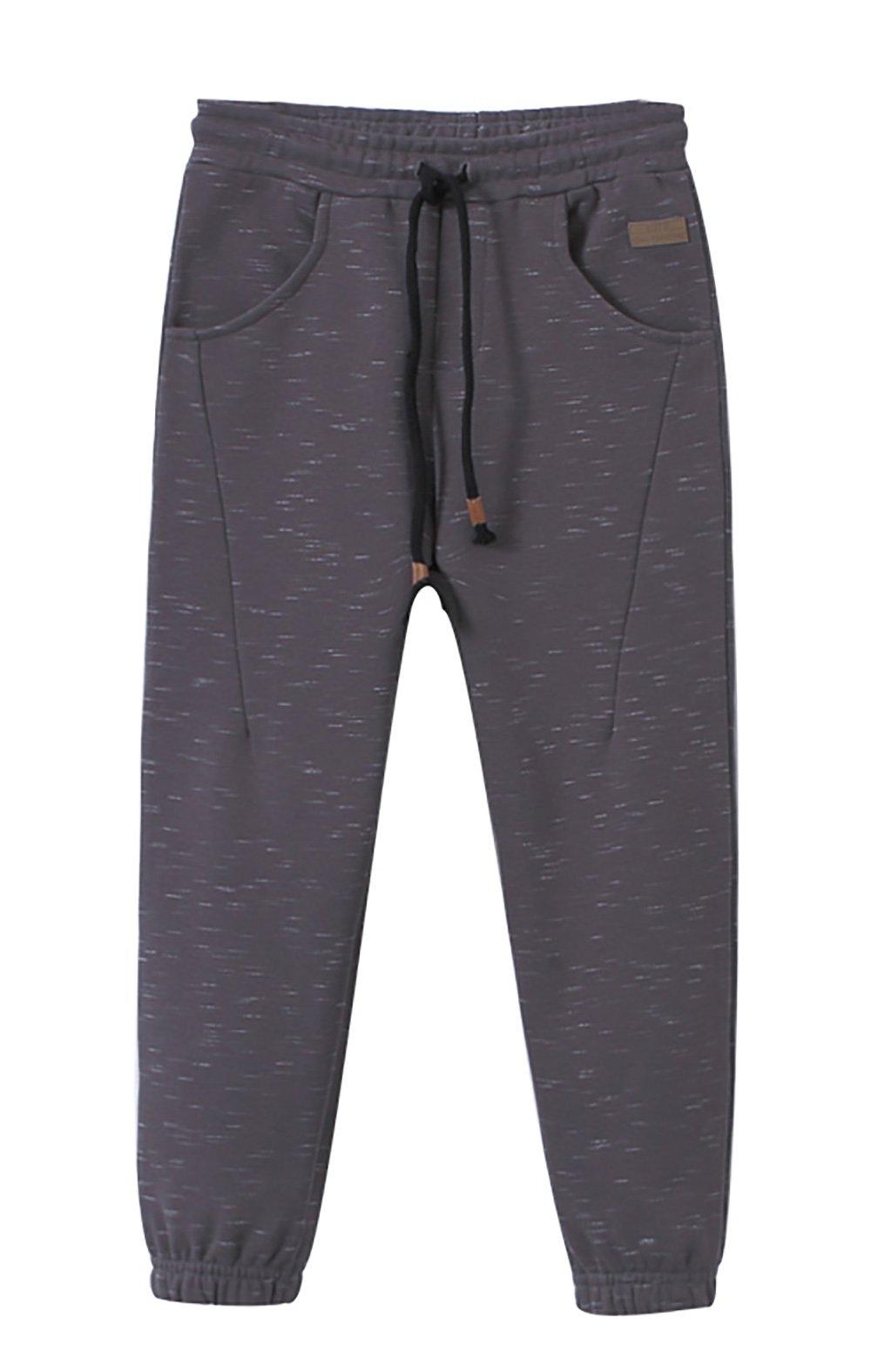Zegoo Boys' Open-Bottom Sweatpants Joggers Grey 4T 5T