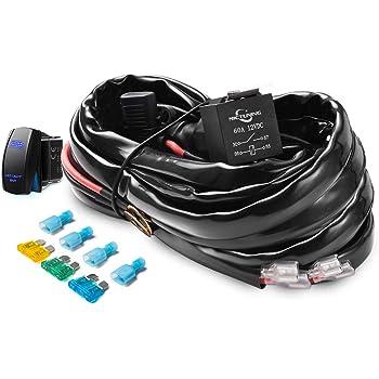amazon com ampper 4 lead led rock lights wiring harness led wiring rh amazon com