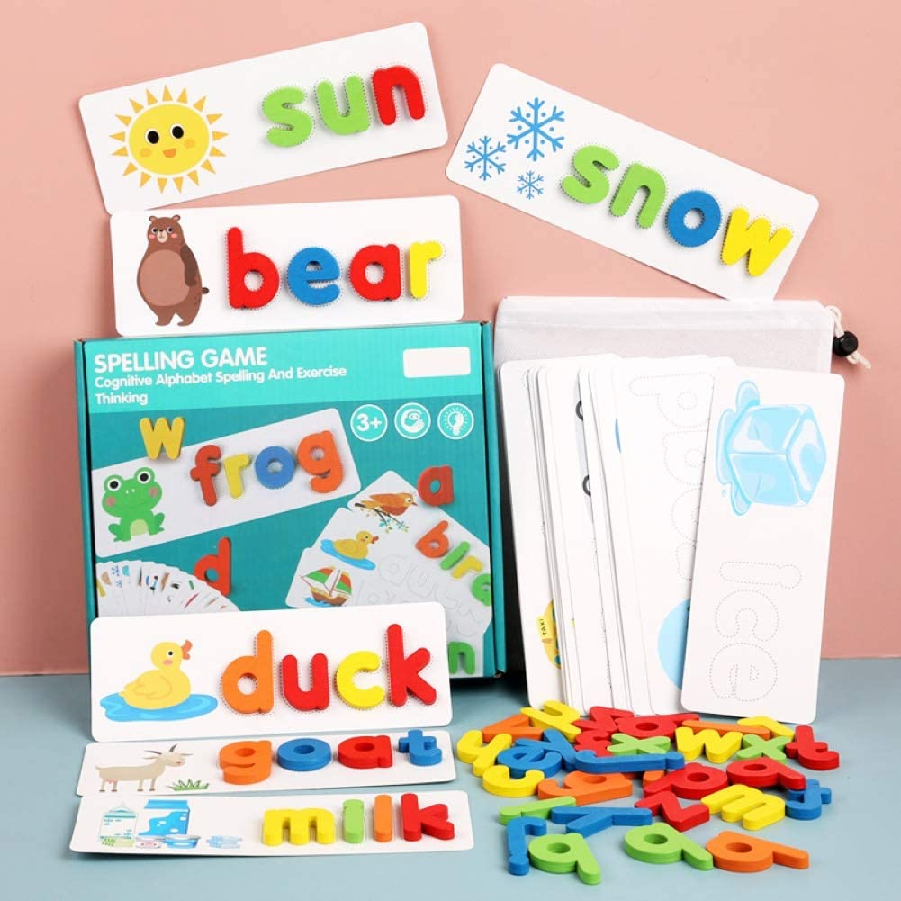 English Spelling Alphabet Letter Game Early Learning Educational Toy Baby Gifts