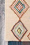 nuLOOM Belini Hand Tufted Wool Area Rug, 4' x