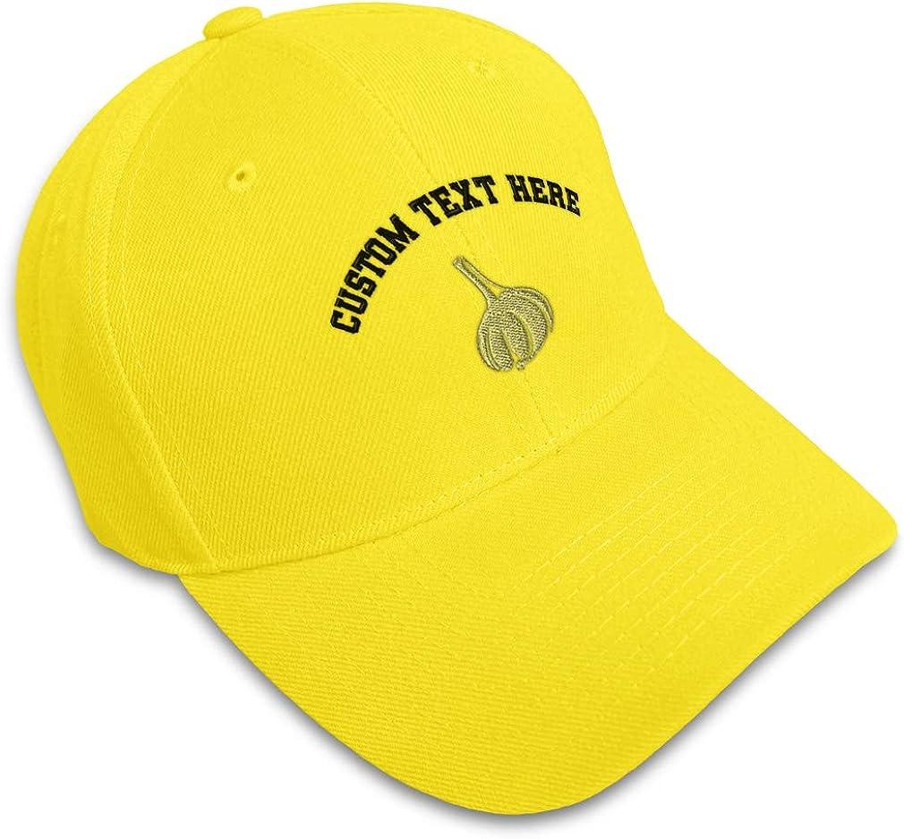 Custom Baseball Cap Garlic Cloves Style B Embroidery Dad Hats for Men /& Women