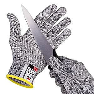 NoCry Cut Resistant Gloves with Grip Dots for Kids (8-12