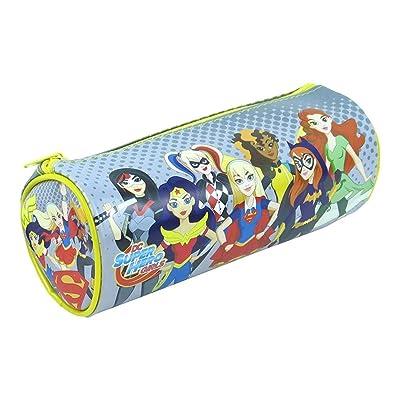 Étui à crayons scolaire à barillet scolaire Super Hero Girls