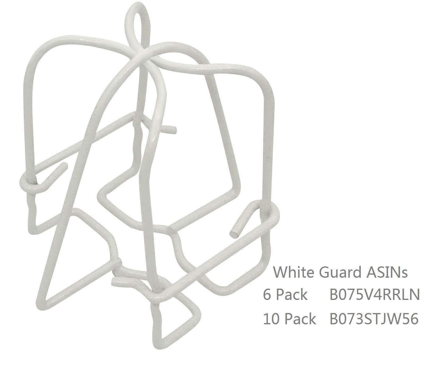 1//2 IPS White Guard Fire Sprinkler Head Cage Double Hook 10 Pack