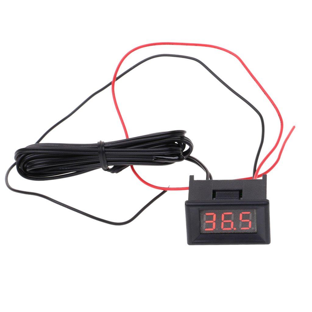 A0127 - Termómetro digital LED para coche, sonda, nevera y ...