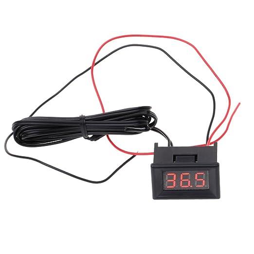 JENOR LED termómetro digital sonda de coche frigorífico congelador temperatura -40~120C Grado DIY