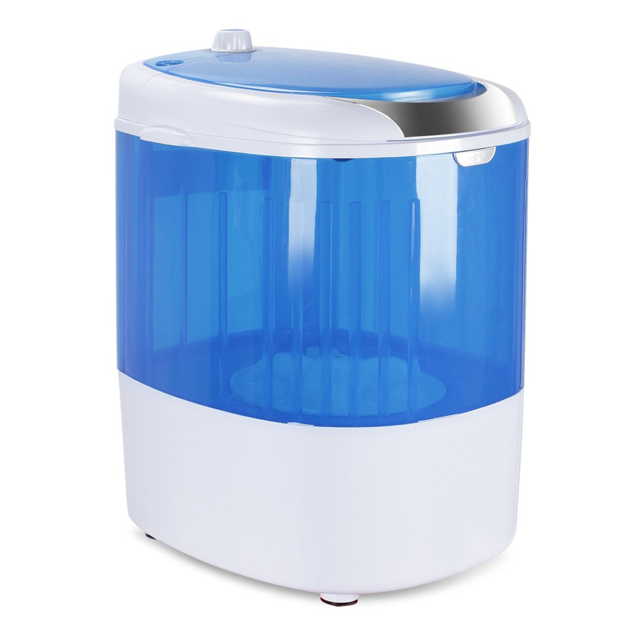 DELLA Portable Washing Machine Top Loader Small Compact Mini Washer 6.6 LBS Load Capacity, Blue