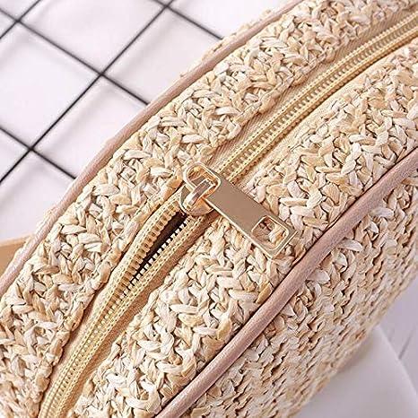 Amazon.com: Cintura Paquetes de Ratán Oval de las Mujeres de ...