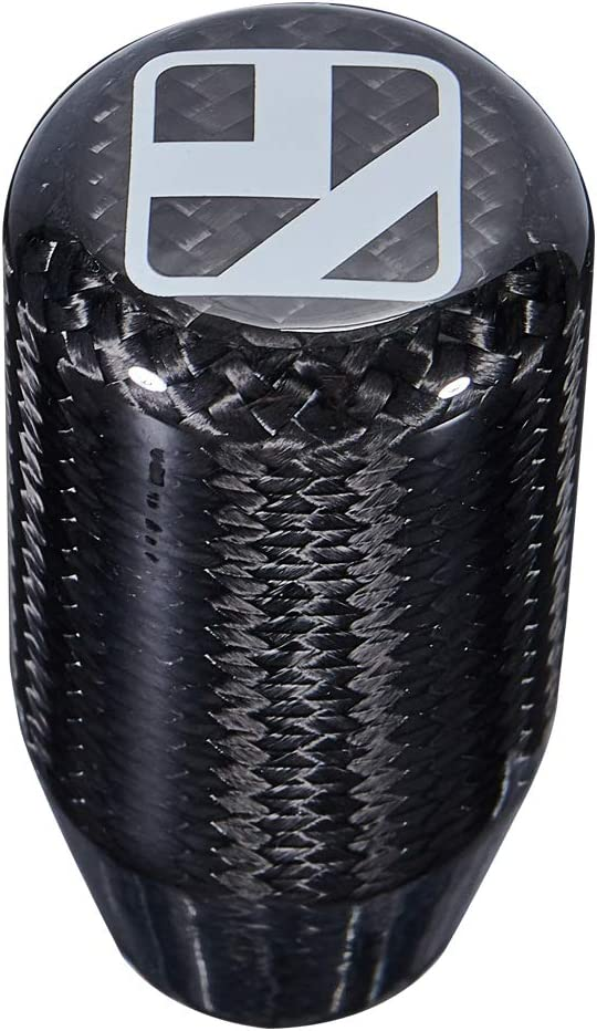WKD Universal Real Carbon Fiber Shift Knob,Manual Car Gear Shift Knob Shifter Lever Head 8//10//12MM Adapter
