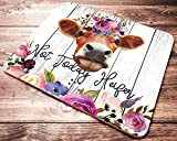 Funny Heifer Quote Mouse Pad Not Today Heifer Pink Watercolor Floral Cow Mousepad Womens Desk Accessories Farmer Gifts