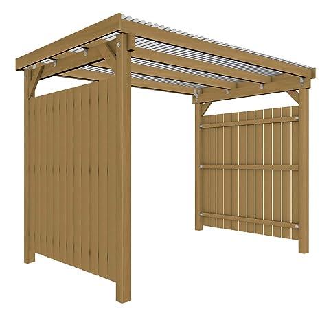 GHS Refugio de 3 x 2 con 2 lados Protección contra la intemperie ...