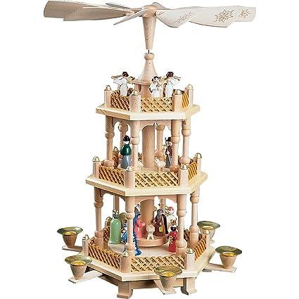 isdd german christmas pyramid nativity scene 2 tier height 40 cm16