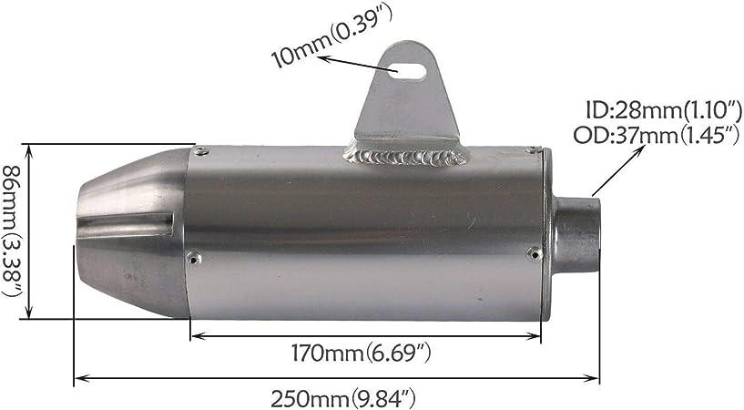 28mm Muffler Front Pipe Exhaust CRF50 Apollo Dirt Bike SSR SDG Yamaha 125cc Baja