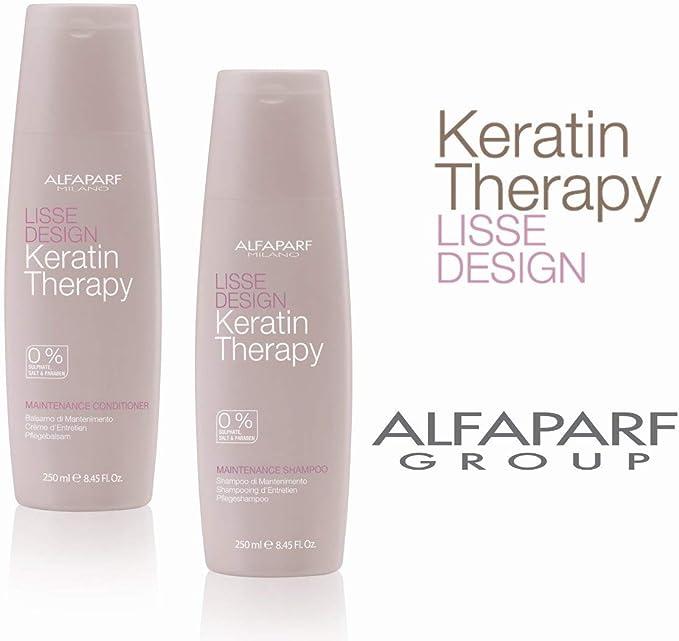 Image ofAlfaparf Lisse Design Maintenance Shampoo & Conditioner Duo 8.45Oz Each By Alfaparf