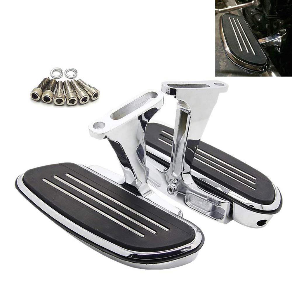Passenger Floorboards Chromed Streamline Footboards Mount Bracket Kits for Touring Models Road King Street Glide 1993-2018 by Yikesai