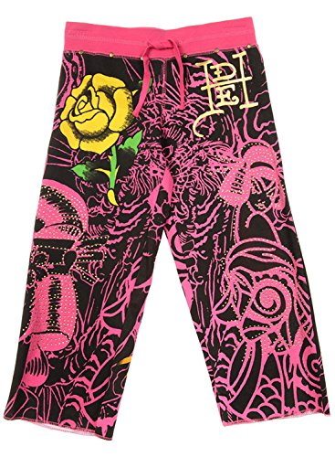 Ed Hardy Kids Big Girls' Sweatpants - Black - X-Large